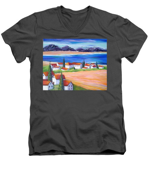 Seaside Village Men's V-Neck T-Shirt