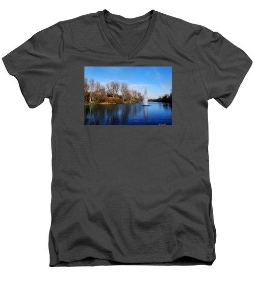Seasons Men's V-Neck T-Shirt by Bernd Hau
