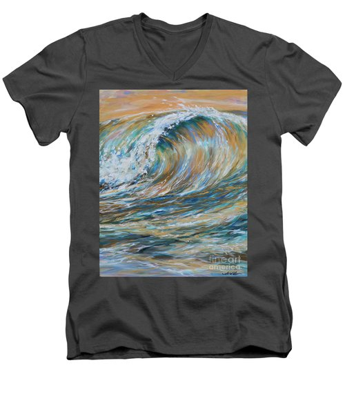 Seaspray Gold Men's V-Neck T-Shirt