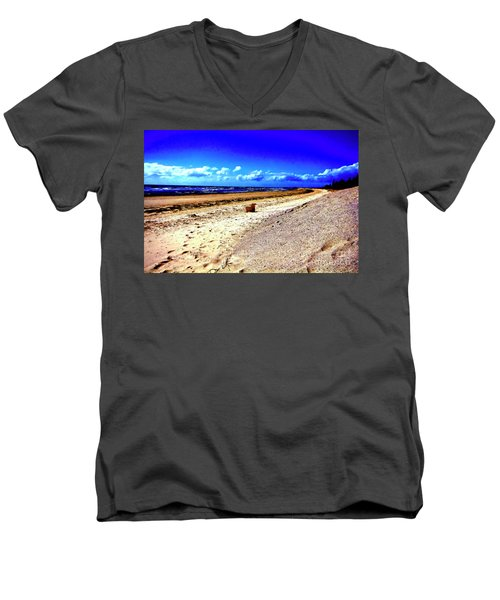 Men's V-Neck T-Shirt featuring the photograph Seat For One by Douglas Barnard