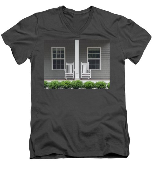 Seating For Two Men's V-Neck T-Shirt by Keith Armstrong