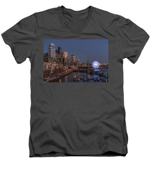 Seattle Autumn Nights Men's V-Neck T-Shirt