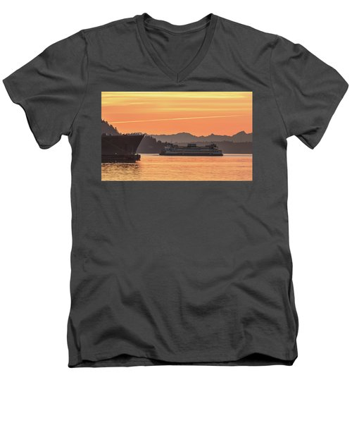 Seattle - Bremerton Ferry Men's V-Neck T-Shirt