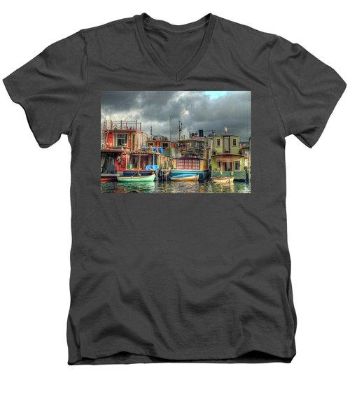 Seattle Houseboats Fine Art Photograph Men's V-Neck T-Shirt