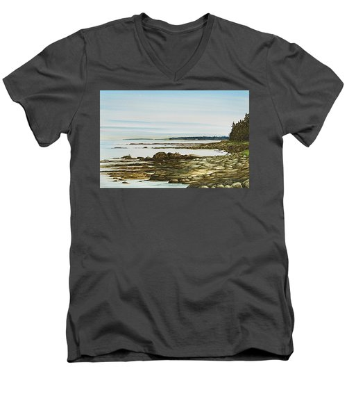 Seawall Mt. Desert Island Men's V-Neck T-Shirt