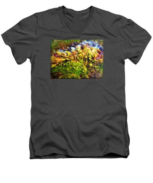 Seaweed Grunge Men's V-Neck T-Shirt by Todd Breitling