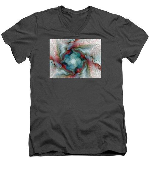 Men's V-Neck T-Shirt featuring the digital art Seaworld by Karin Kuhlmann