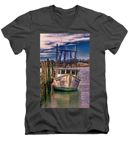 Seaworthy II Bristol Rhode Island Men's V-Neck T-Shirt by Tom Prendergast