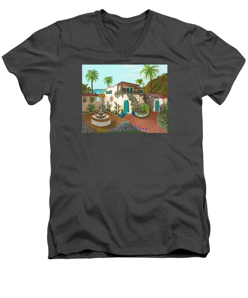 Secluded Paradise Men's V-Neck T-Shirt by Katherine Young-Beck