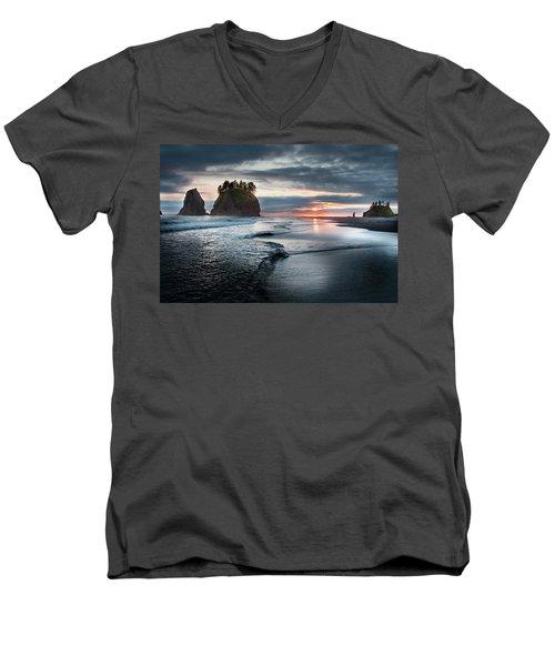 Second Beach #1 Men's V-Neck T-Shirt