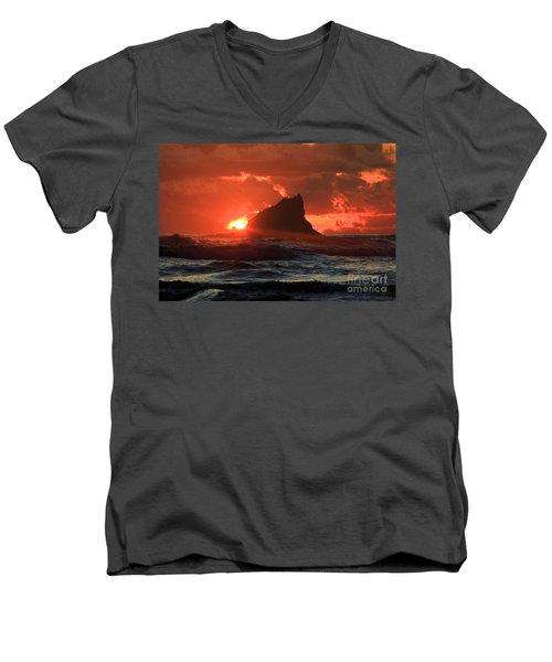 Second Beach Shark Men's V-Neck T-Shirt