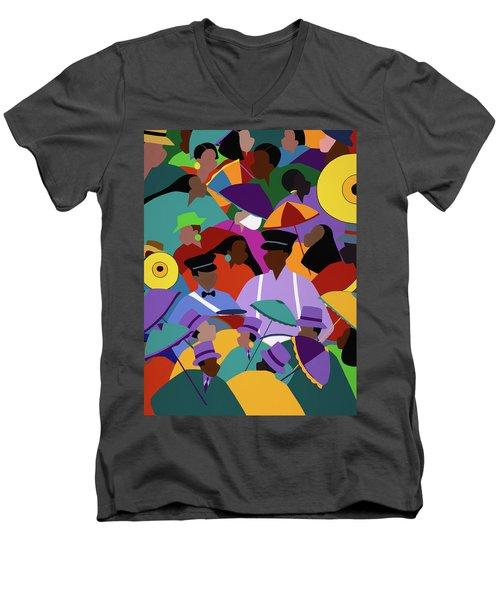 Second Line New Orleans Men's V-Neck T-Shirt