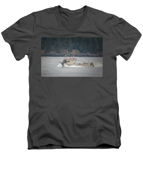 Men's V-Neck T-Shirt featuring the photograph Second Wind by Randy Hall