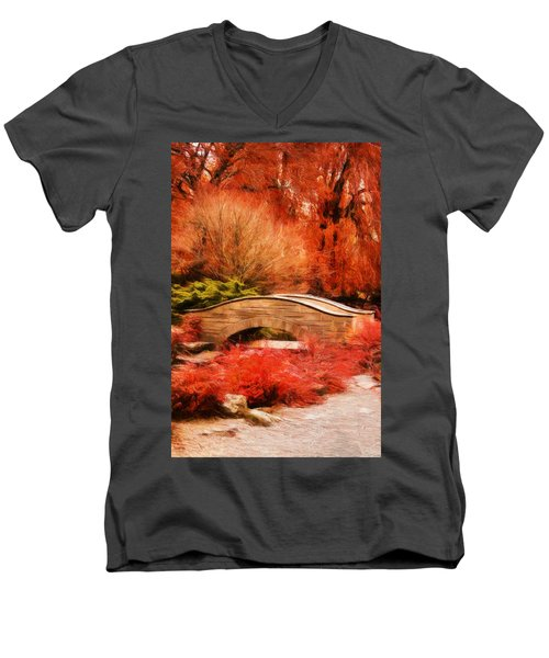 Secret Footbridge Men's V-Neck T-Shirt