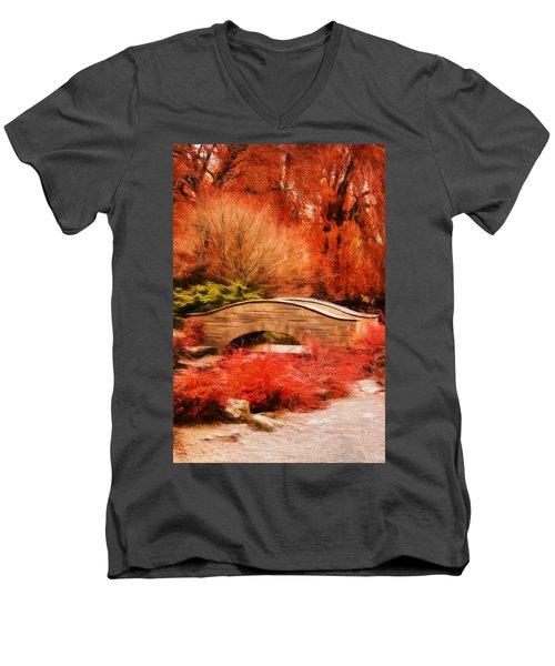 Secret Footbridge Men's V-Neck T-Shirt