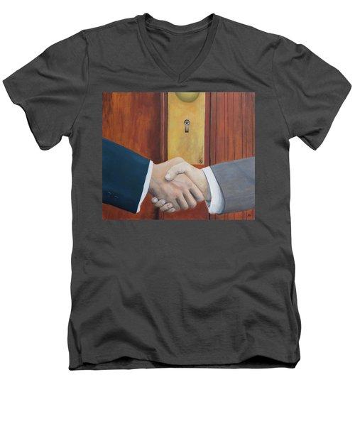Secret Handshake Men's V-Neck T-Shirt