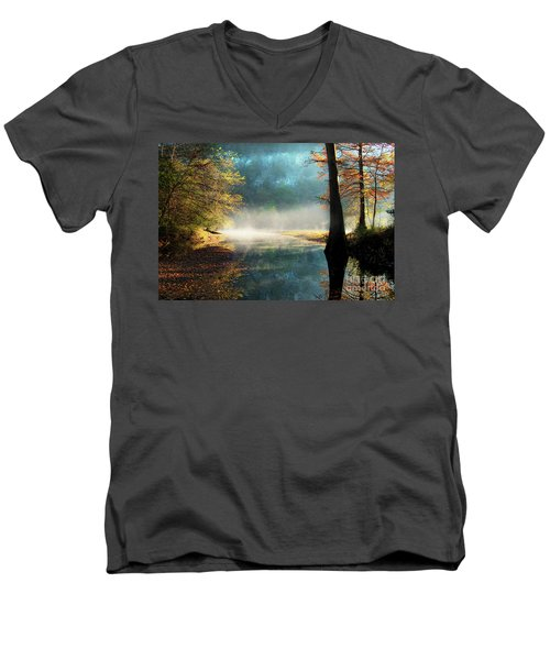 Men's V-Neck T-Shirt featuring the photograph Secret Hideaway by Tamyra Ayles