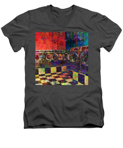 Secret Life Of Laundromats Men's V-Neck T-Shirt