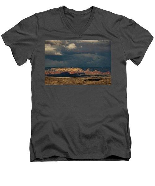 Secret Mountain Wilderness Storm Men's V-Neck T-Shirt