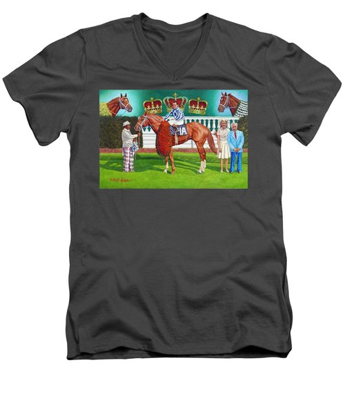 Secretariat Men's V-Neck T-Shirt