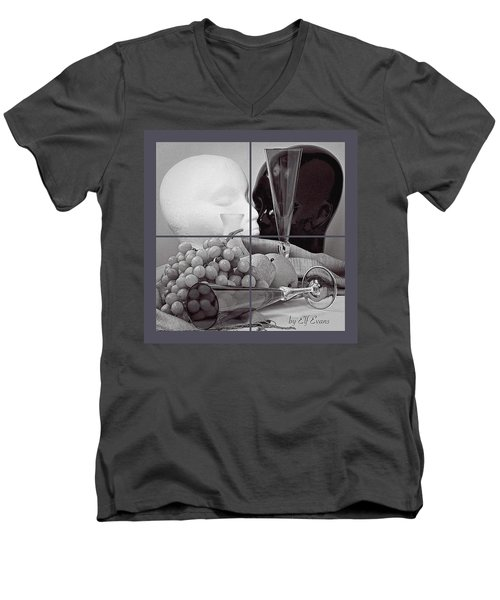Men's V-Neck T-Shirt featuring the photograph Sections by Elf Evans