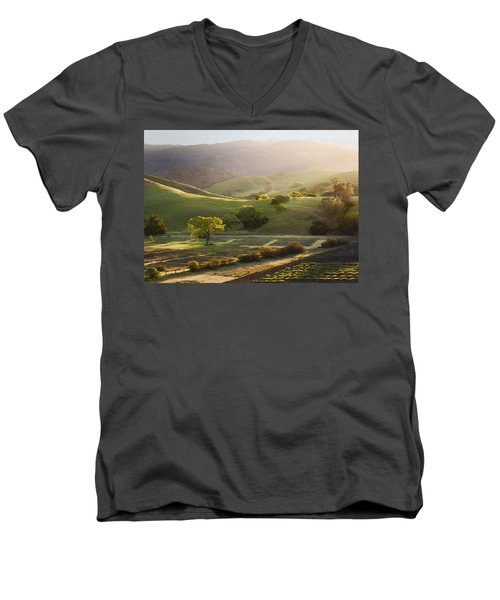 Sedgwick Sunrise Men's V-Neck T-Shirt