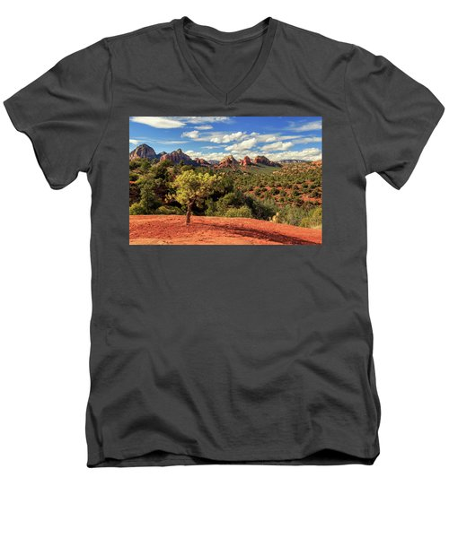Men's V-Neck T-Shirt featuring the photograph Sedona Afternoon by James Eddy