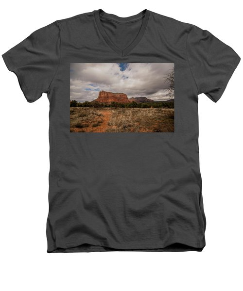Men's V-Neck T-Shirt featuring the photograph Sedona National Park Arizona Red Rock 2 by David Haskett