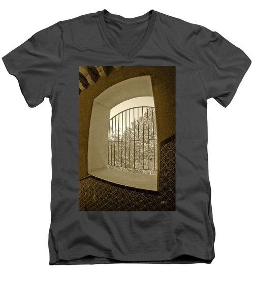 Men's V-Neck T-Shirt featuring the photograph Sedona Series - Through The Window by Ben and Raisa Gertsberg