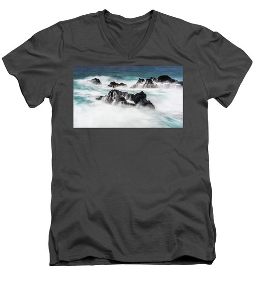 Men's V-Neck T-Shirt featuring the photograph Seduced By Waves by Jon Glaser