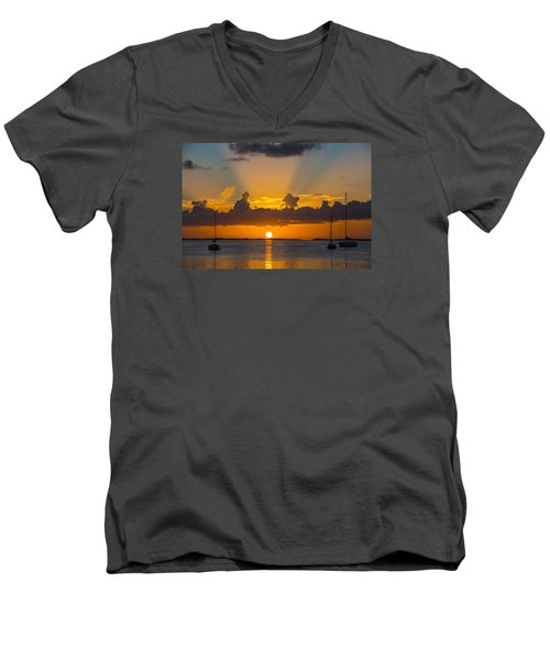 See The Light Men's V-Neck T-Shirt by Kevin Cable