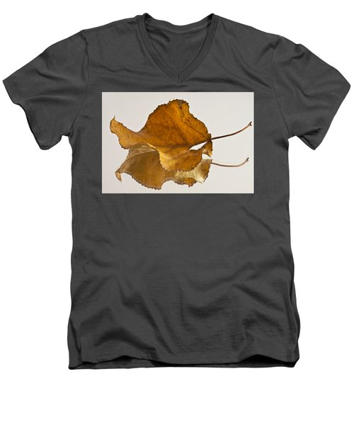 Seeing Double Autumn Leaf  Men's V-Neck T-Shirt by Sandra Foster