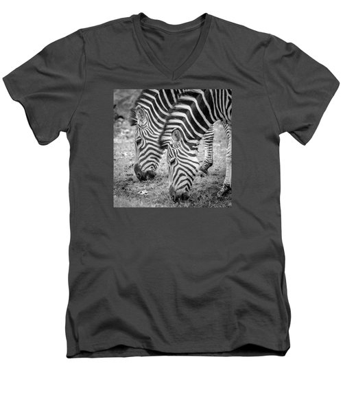 Seeing Double Men's V-Neck T-Shirt by Wade Brooks