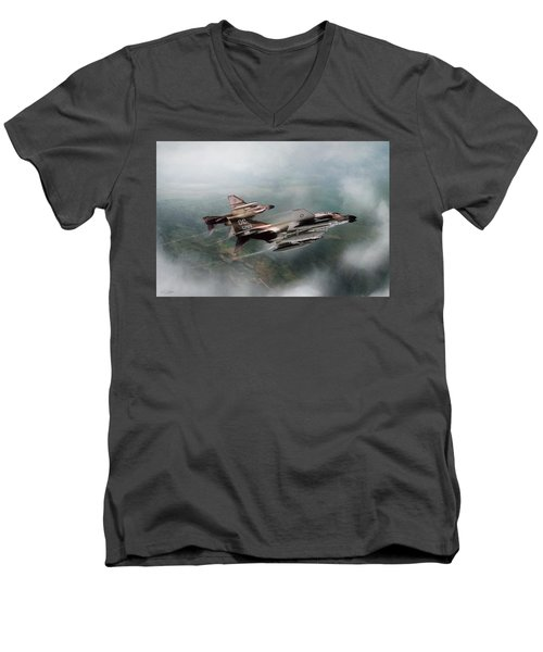 Men's V-Neck T-Shirt featuring the digital art Seek And Attack by Peter Chilelli