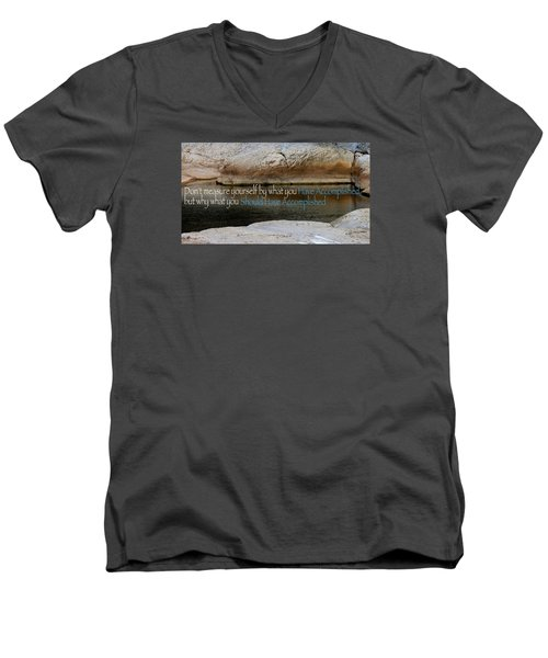 Men's V-Neck T-Shirt featuring the photograph Seek Deeper by David Norman
