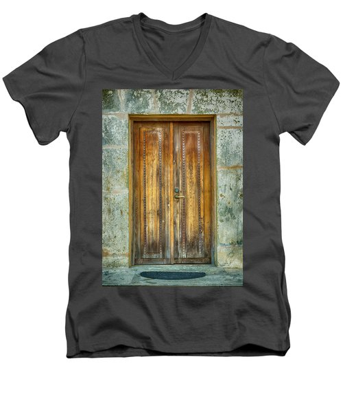 Men's V-Neck T-Shirt featuring the photograph Seeking Sanctuary - 1 by Stephen Stookey