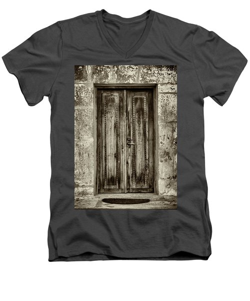 Men's V-Neck T-Shirt featuring the photograph Seeking Sanctuary - 2 by Stephen Stookey