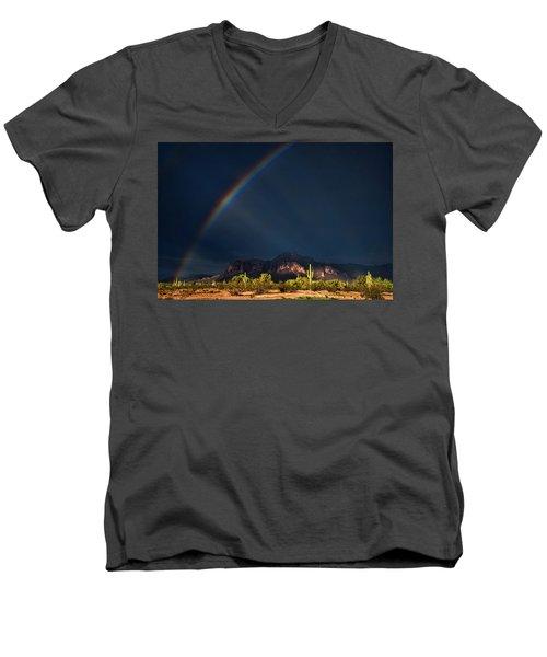 Men's V-Neck T-Shirt featuring the photograph Seeking That Pot Of Gold  by Saija Lehtonen