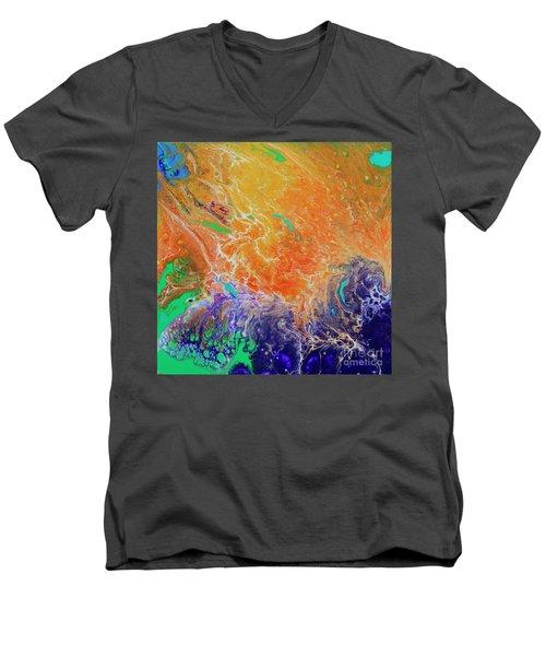 Deep Space Impressions 1 Men's V-Neck T-Shirt