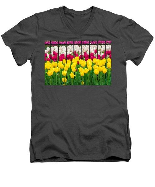 Segregated Spring Men's V-Neck T-Shirt
