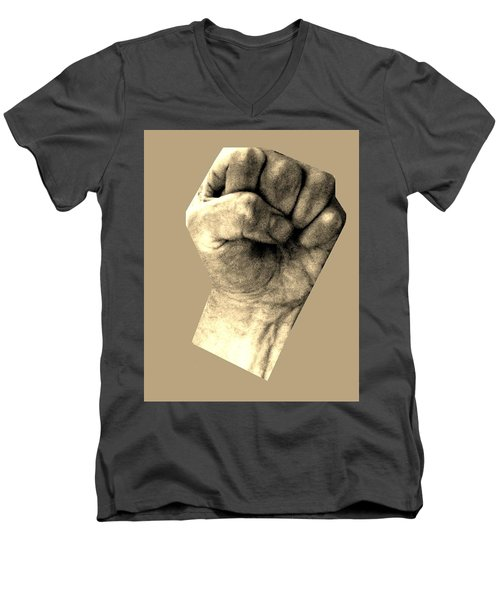 Men's V-Neck T-Shirt featuring the photograph Self Portrait Too by Cletis Stump
