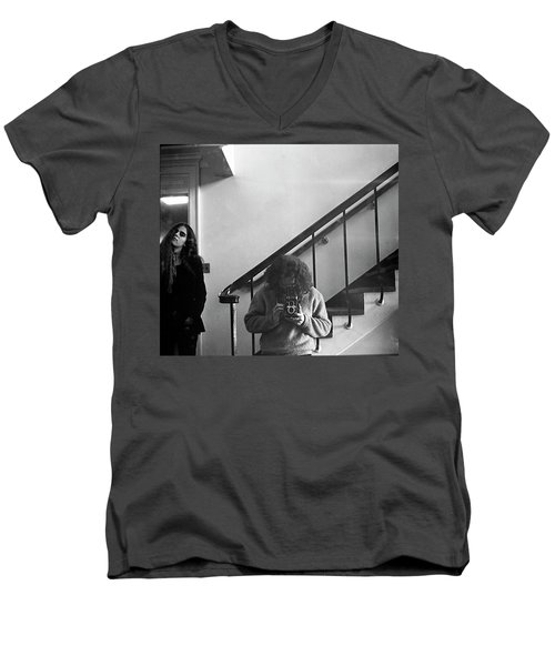 Self-portrait, With Woman, In Mirror, Cropped, 1972 Men's V-Neck T-Shirt