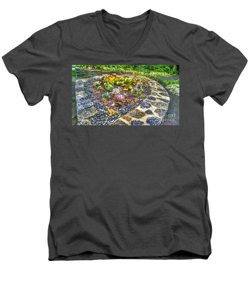 Sensory Garden At Laurelwood Arboretum Men's V-Neck T-Shirt