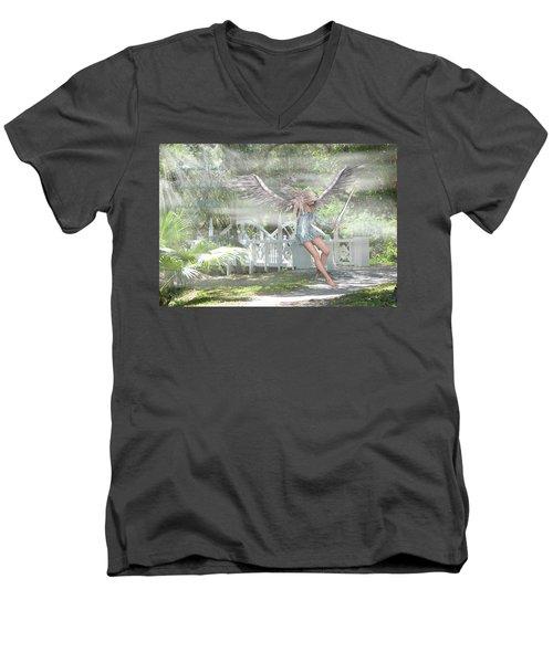 Sent From Heaven Men's V-Neck T-Shirt by Rosalie Scanlon