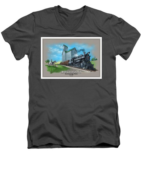 The Ross Elevator Sentinel Of The Plains Men's V-Neck T-Shirt