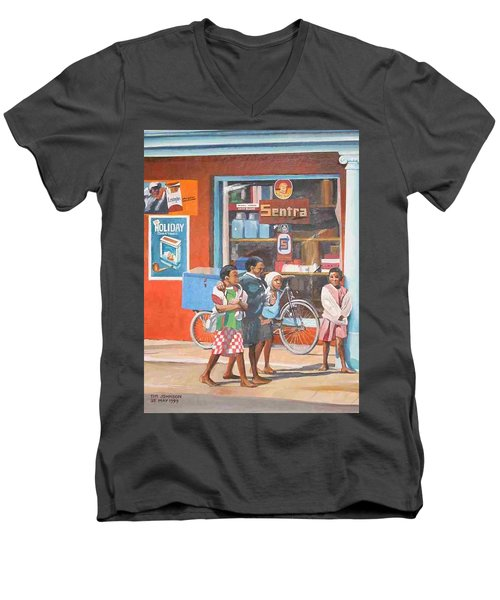 Sentra Men's V-Neck T-Shirt by Tim Johnson