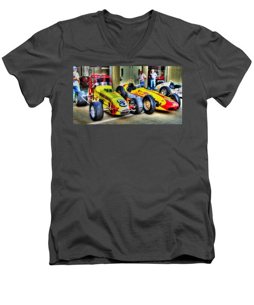 Separated At Birth Men's V-Neck T-Shirt by Josh Williams