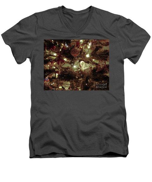 Sepia Christmas Tree Men's V-Neck T-Shirt