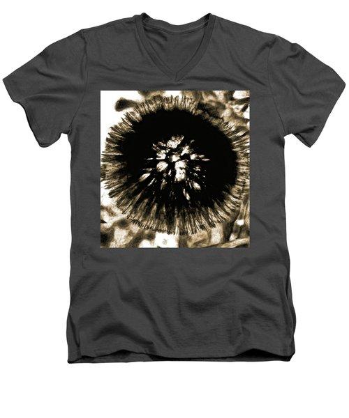 Sepia Dandelion Men's V-Neck T-Shirt