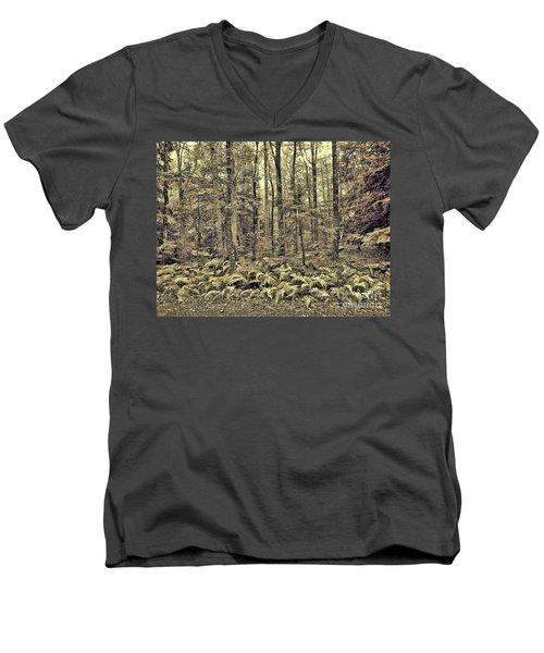 Sepia Landscape Men's V-Neck T-Shirt